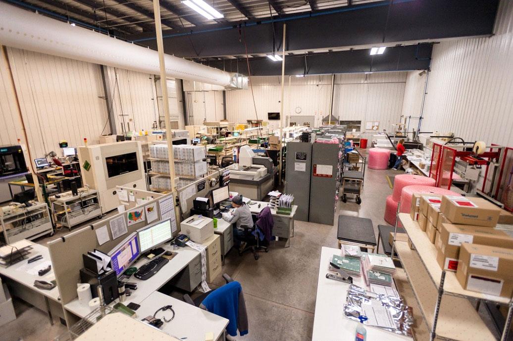 Calumet Electronics shipping area