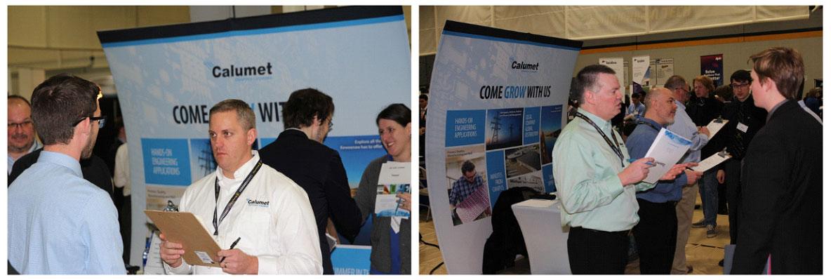 Calumet Electronics at Michigan Technological University job fair