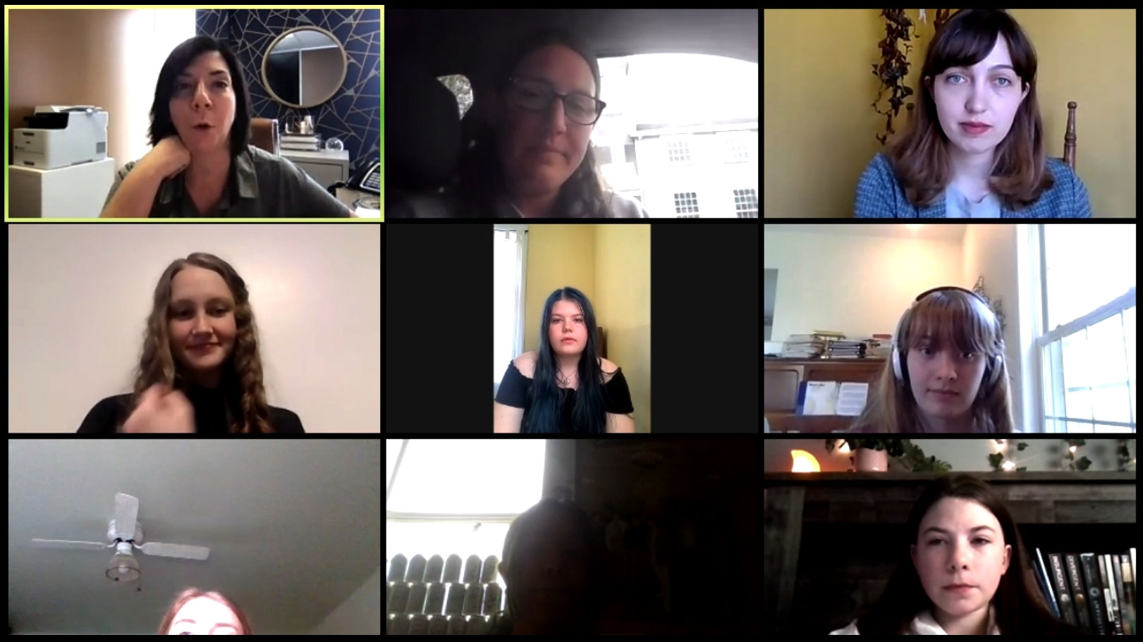 Women in Aerospace zoom meeting