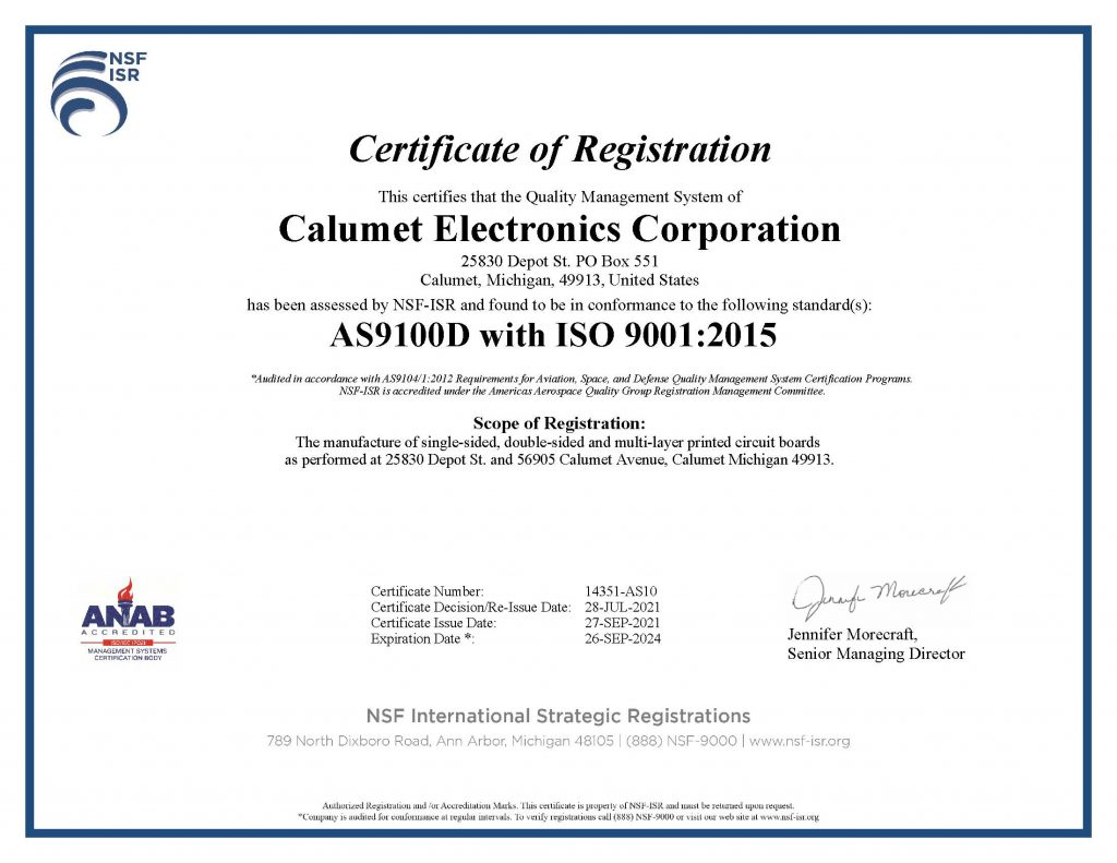 AS9100D with ISO 9001:2015