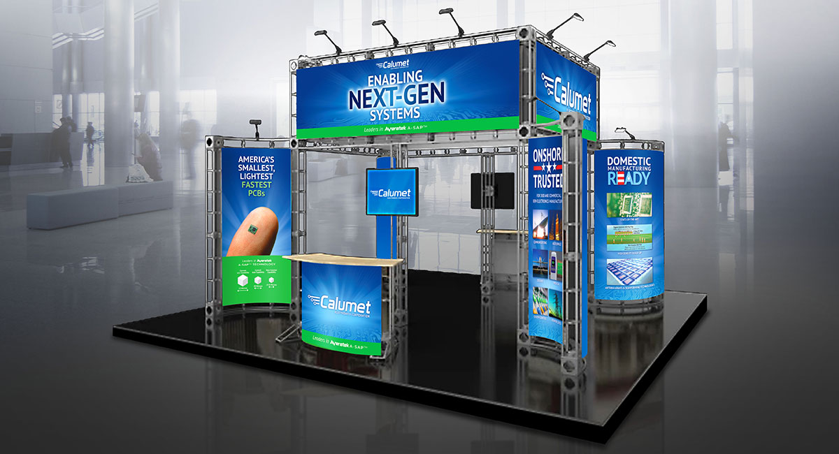 2021 Satellite show booth display